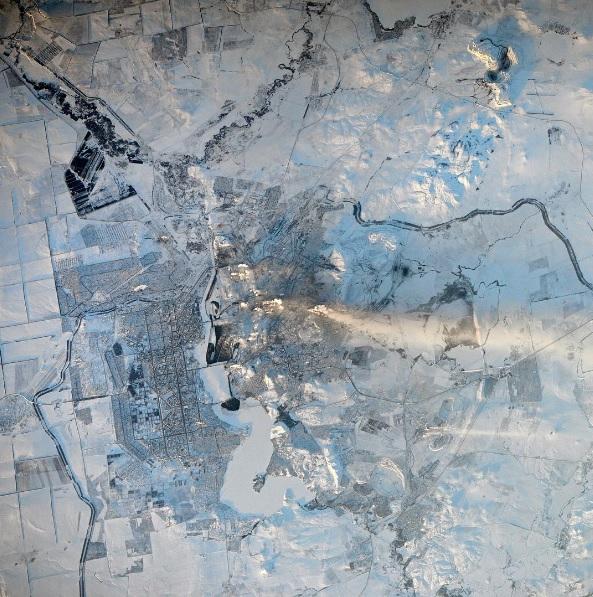 Русский космонавт выложил винтернет фото Магнитогорска изкосмоса