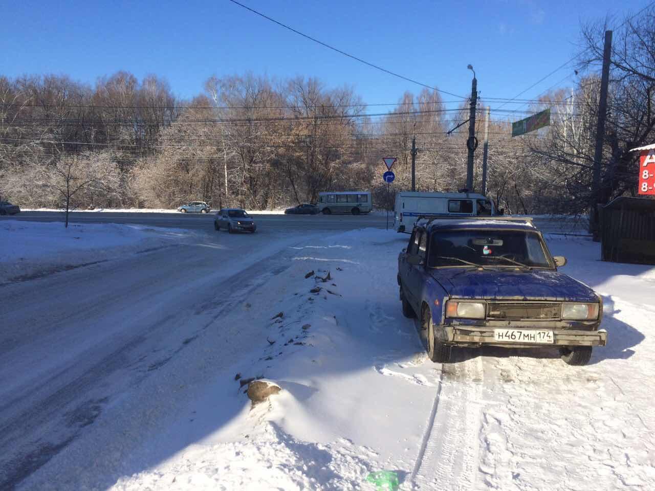 ВЧелябинске ВАЗ сбил 60-летнюю женщину натротуаре