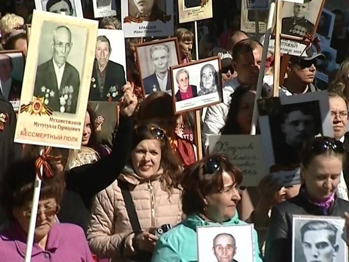 ВЧелябинске впроцессе шествия «Бессмертный полк» пронесут копию флага победы