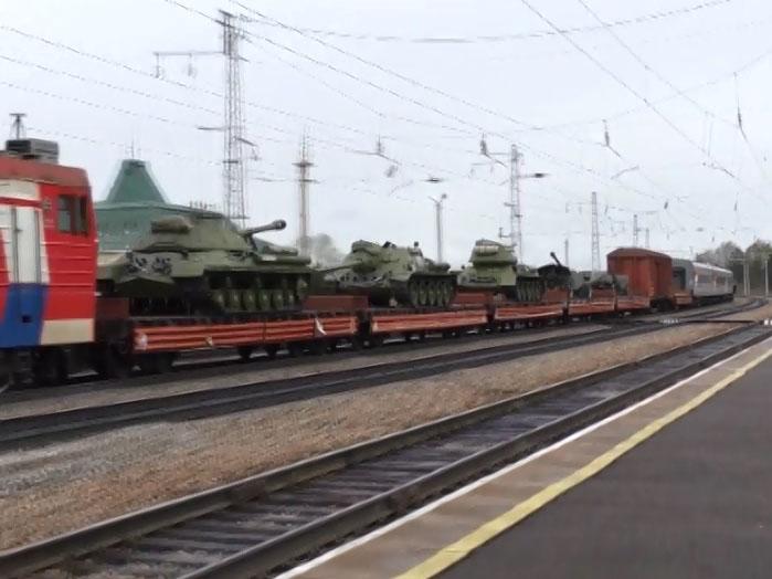 ВОмск прибыли танки времен Великой Отечественной наагитпоезде «Армия Победы»