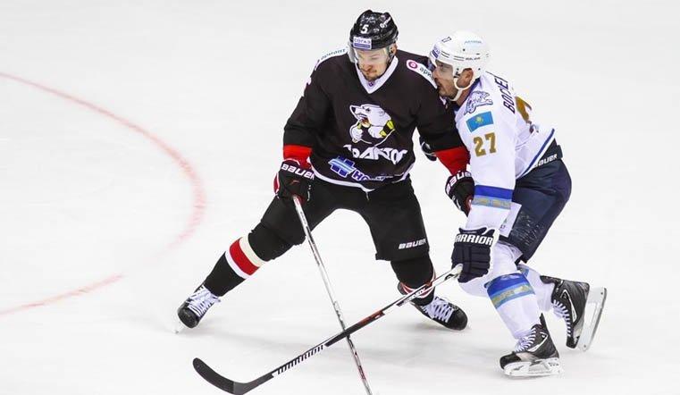 Хоккеисты «Трактора» победили «Барыс» вматче чемпионата КХЛ