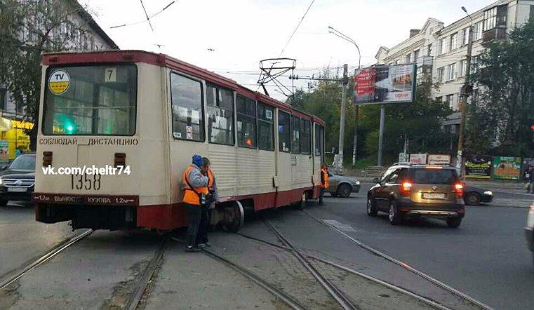 ВЧелябинске сошел срельсов трамвай