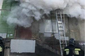 пожар общежитие, Челябинск