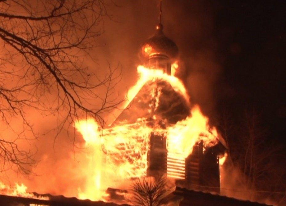 в Челябинске горела часовня