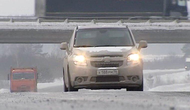 Снегопад накрыл Челябинскую область
