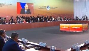 Открыли форум Президенты двух стран – Владимир Путин и Нурсултан Назарбаев