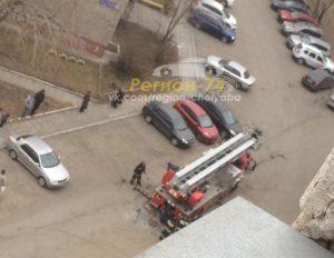 пожарная машина в Челябинске застряла