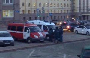 эвакуация у здания администрации Челябинска