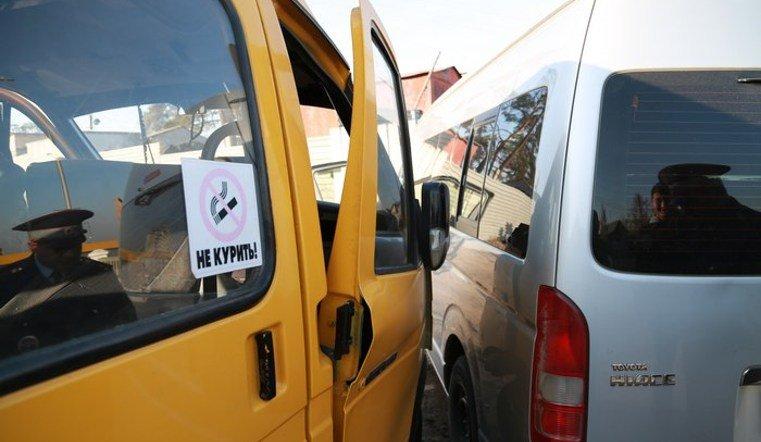 ДТП с двумя маршрутными такси на Троицком тракте