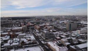 Центр Челябинска замерзает