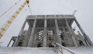 Строители рассказали как идет возведение Христорождественского собора