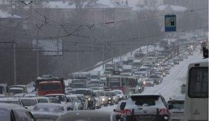 Пробки в понедельник в Челябинске с утра