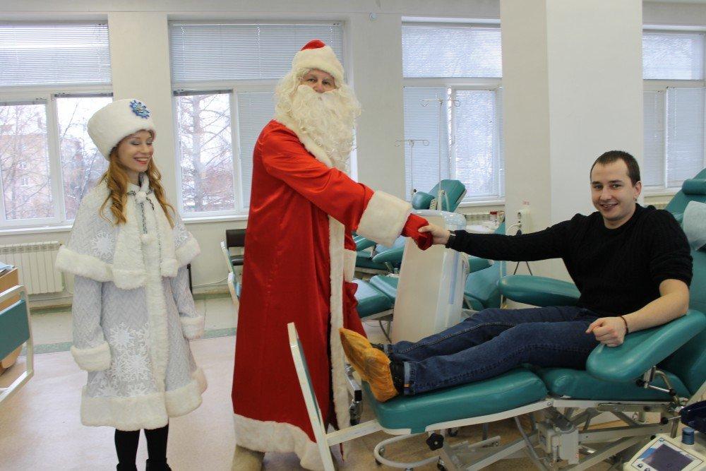 Южноуральские доноры запраздники сдали больше 190 литров крови