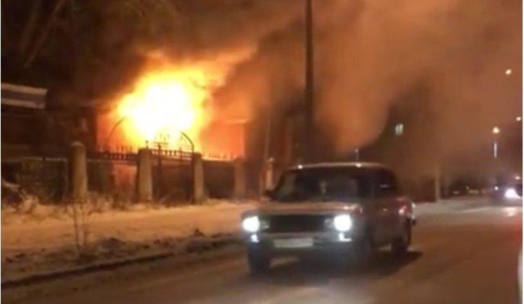 ВЧелябинской области навсе 100% сгорело известное кафе «Фрегат»