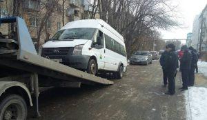 Судебные приставы Челябинска арестовали залоговую маршрутку