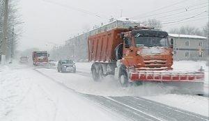 Уборка снега в Магнитогорске