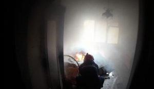 При пожаре в Кыштыме чуть не сгорел инвалид