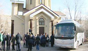 Посещение храма святого Дмитрия Донского в Челябинске