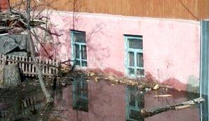 Подтопление домов поселка Самострой