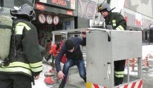 Учебная пожарная тревога в челябинском ТРК