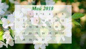 Все события мая, памятные даты