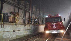 Сегодня горел хладокомбинат в Челябинске