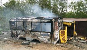 Этот автобус и послужил поводом для рейда экологов