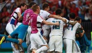 Сборная России по футболу победила Испанию на ЧМ-2018