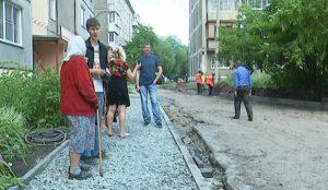 Благоустройство двора в Челябинске