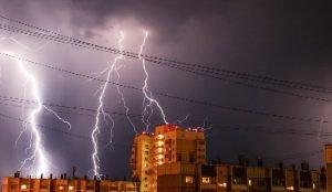 Ночная гроза в Челябинске
