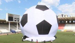 Гигантский мяч возвращается в Челябинск