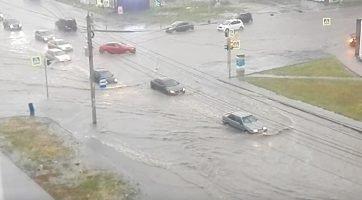 Потоп в Челябинске после ливня