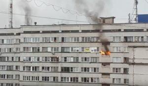 Пожар в челябинском общежитии