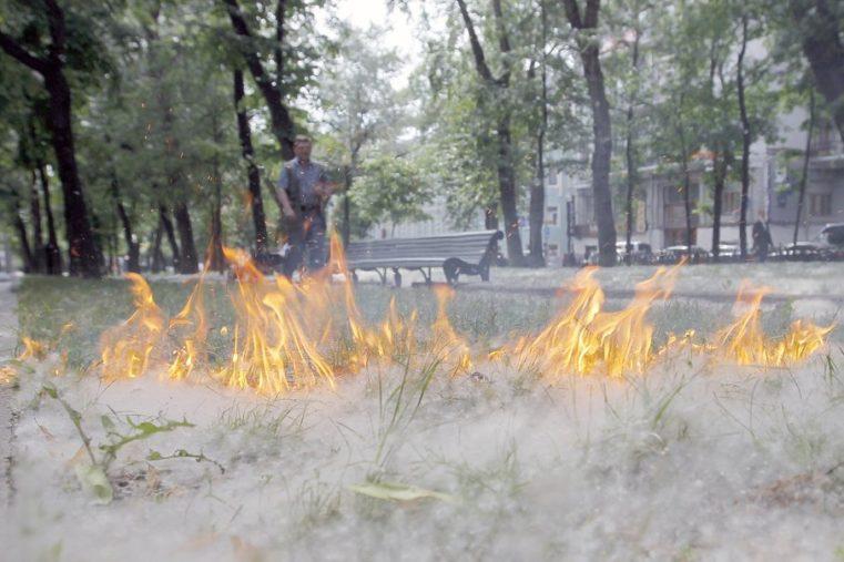 Огромный столб дыма. Пожар напугал жителей закрытого города на Урале ВИДЕО
