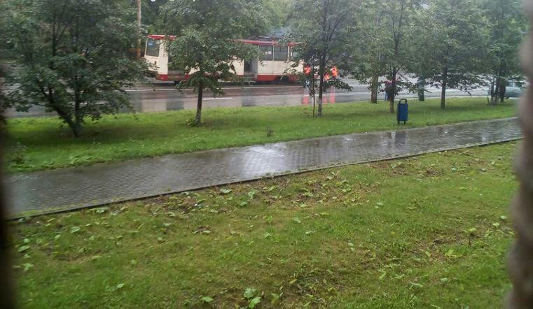В Челябинске чуть не сгорел трамвай с пассажирами