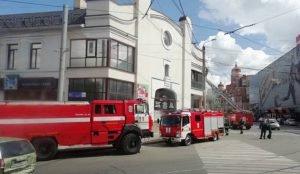 Пожар произошел в здании Камерного театра