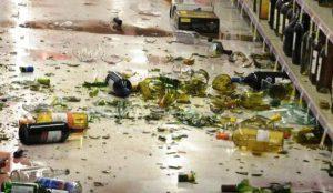 Житель Аши разгромил магазин алкоголя
