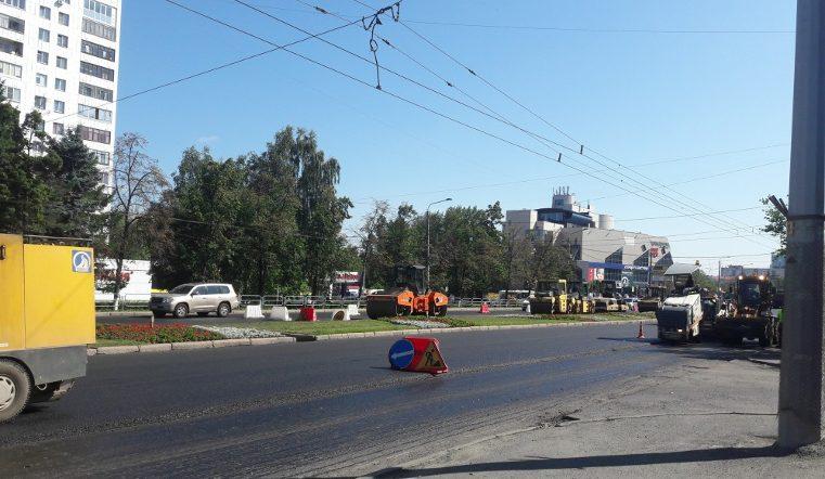 ВЧелябинске продолжается ремонт проспекта Ленина