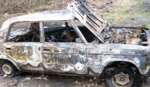В сгоревшей в кыштыме машине обнаружили труп