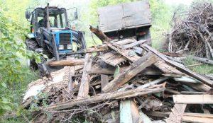 в Челябинске ликвидировали очередную незаконную свалку