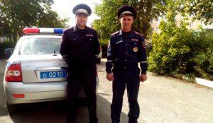 Полицейские помогли автомобилистке в Карталах