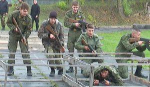 Военно-спортивная эстафета школьников