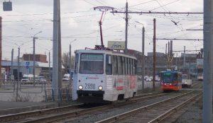 В нескольких районах Челябинска отменили движение трамваев