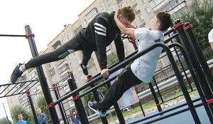 Открытие воркаут-площадки в Челябинске