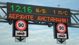 Динамические знаки ограничения скорости