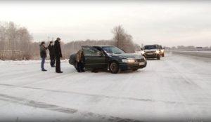 """Пьяный водитель """"Тойоты"""" врезался в отбойник на трассе"""