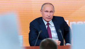 Сегодщня пройдет большая пресс-конференция Владимира Путина