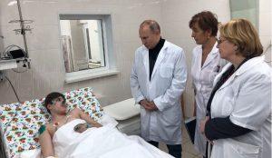 Путин пообщался с пострадавшими в Магнитогорске