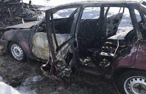 Тело южноуральца обнарулили в сгоревшей машине