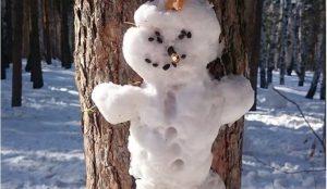 Челябинцы создали город из снеговиков